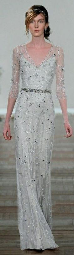 Jenny Packham Bridal S/S 2013 - I could see this on the red carpet AND walking down the aisle, depending on color an accessories...