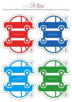 Overige - Traktatie auto | printable - Een uniek product van TypischMies op DaWanda Birthday Treats, Party Treats, Boy Birthday, Diy For Kids, Gifts For Kids, Auto Party, Cute Snacks, Race Party, Happy B Day