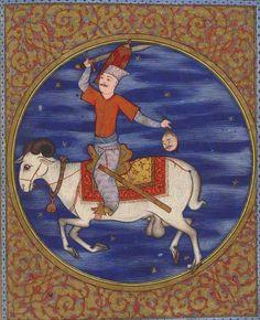 Aries - Islamic astrology, transcript of Kitab al Bulhan, Ottoman Islamic miniature, Zodiac sings (Bibliothèque Nationale de France)