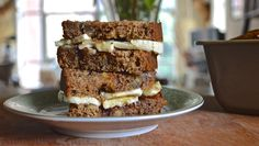 "Sandwich #166–""Lazy Morning"" Banana Bread Sandwich"