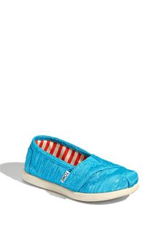Turquoise Sparkle Toms for Baby - Yes I am obsessed.