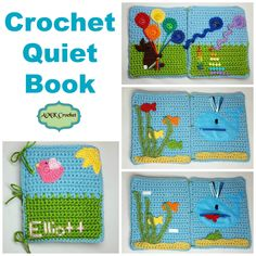 Crochet Toys Ideas Free Crochet Quiet Book Pattern, Educational toy for children to learn using velcro, zipper, numbers, and colors. Great for Montessori Style of learning! Crochet Baby Toys, Crochet Toddler, Crochet Bebe, Crochet Gifts, Crochet For Kids, Free Crochet, Crochet Rabbit, Crochet Motifs, Crochet Patterns