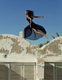 Cindy Bruna in Vogue Arabia March 2018 by Julian Torres