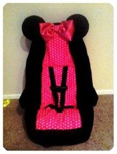 minnie mouse toddler car seat cover 6000 via etsy