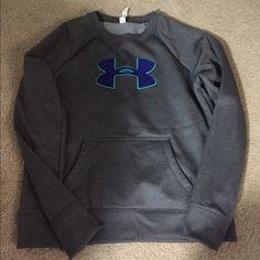 Under armour sweatshirt large but fits medium Under armour sweatshirt size large but I think it  fits closer to a medium! Under Armour Tops Sweatshirts & Hoodies