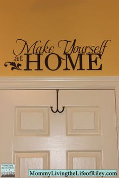 Home decals -- SO much easier than painting on the words like I did years ago in Matt's room!!