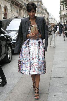 Dressed in Mary Katrantzou Resort 2014 at Paris Haute Couture Fashion Week: Princess Deena Abdulaziz of Saudi Arabia Royal Fashion, Love Fashion, Fashion Show, Fashion Trends, Paris Fashion, Princess Deena Aljuhani Abdulaziz, Arabian Princess, Saudi Princess, Looks Street Style