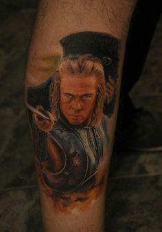 Achilles tattoo Spartacus, Troy Achilles, Gladiator Tattoo, Greek Mythology Tattoos, Roman Warriors, Sketches, Portrait, Warriors, Drawings