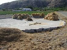 Threshing place, Santorini, Greece - Threshing floor - Wikipedia, the free encyclopedia Threshing Floor, Visit Israel, Whole Earth, Jesus Lives, Jesus Christ, Picture Places, Bible Pictures, Bible Art, Ruth Bible