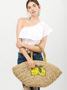 Lemonade Straw Tote Bag