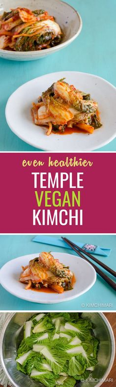 Temple style vegan kimchi without shrimps, fish, and garlic. It'll definitely cleanse your body!