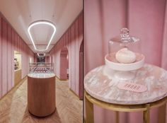 Nanan French patisserie in Wroclaw is the recent creation of a local BUCK.STUDIO. Delicacies and cakes are not the only sweet element inside this millennial pink-themed bakery.