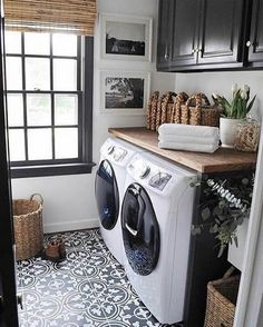 This would be awesome too with teal cabinets Storage Shelves Ideas Laundry room decor Small laundry room organization Laundry closet ideas Laundry room storage Stackable washer dryer laundry room Small laundry room makeover A Budget Sink Load Clothes Laundry Mud Room, Home, Room Remodeling, House Design, Sweet Home, Farmhouse Laundry Room, Laundry In Bathroom, Room Makeover, Room Design
