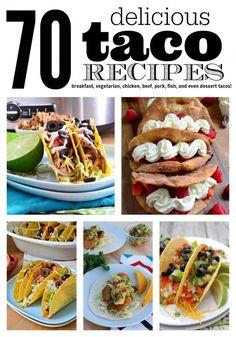70 delicious taco recipes