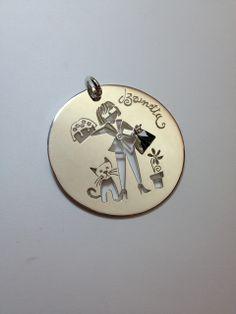 """Per un """"evento"""" speciale... pendente in argento con smalti e brillantini! Personalizzazione Alisi Gioielli per renderlo unico"""