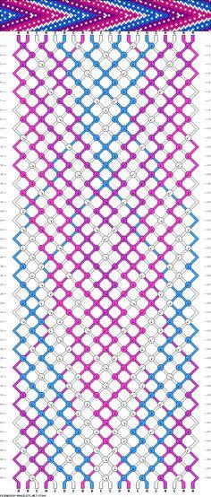 Muster # 37948, Streicher: 20 Zeilen: 48 Farben: 4
