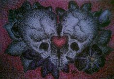 Check out this item in my Etsy shop https://www.etsy.com/listing/221920722/skullheart-print-5x7-pointillism-art