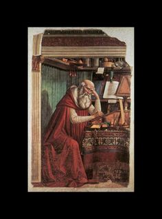 Ghirlandaio, Domenico: Florenz, Kirche Ognissanti: Der Hl. Hieronymus im Gehäuse