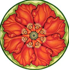 Poppy Mandala by Holli Zollinger- would make a lovely tattoo