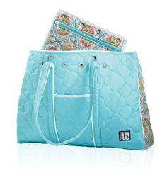 Cinda B Travel & Leisure Bags Collection :  Resorter II - 9 Colors CNB-530 | Casablanca Sky Blue