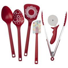Room Essentials 6 Piece Kitchen Tool Set - Red