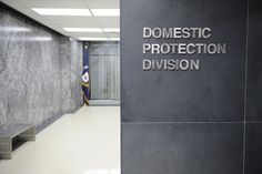 COVERT AFFAIRS    Entrance to the Domestic Protection Division    Photo by: Steve Wilkie/USA Network     I like this one