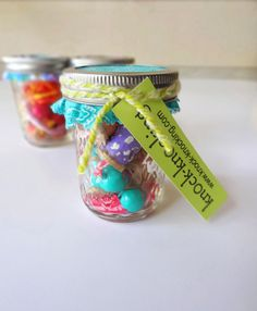 Necklace in a Jar!!  Such a neat idea for little girls gifts.