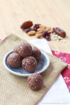 Cranberry Almond Energy Balls
