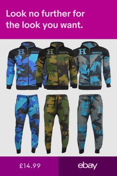 Sportswear Clothes, Shoes & Accessories #ebay Fleece Hoodie, 9 And 10, Boy Or Girl, Joggers, Camo, Sportswear, Hoodies, Boys, Fictional Characters