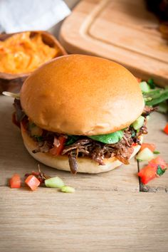 Ras El Hanout Pulled Beef Sandwich — My Moroccan Food Pulled Beef, Pulled Chicken, Ras El Hanout, Beef Sandwich, Middle Eastern Recipes, Pretty And Cute, Good Mood, Moroccan Recipes, Ethnic Recipes