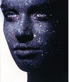 Stone Look Glitter Face by tastychocolatecurls, via Flickr
