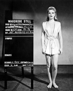 Anne Francis wardrobe test for 'Forbidden Planet', 1955.