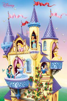 Poster: Disney Princess - castle online te koop. Bestel je poster, je 3d filmposter of soortgelijk product Maxi Poster