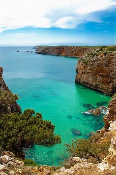 The beautiful clear waters of Alentejo, Portugal.