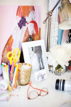 Take a Peek Into This Blogger's Girly Glam Apartment: Style Me Pretty takes you on a tour of the home of Julia Engel from Gal Meets Glam.