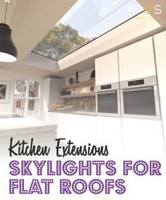 Skylights can help you to realise the potential of your kitchen and make it a space that is loved by every member of your family. An opening skylight can also helps to reduce heat . Kitchen Extension, Roof Light, Roofing Systems, Stylish Kitchen, House Interior, Building A Kitchen, Container House, Loft Spaces, Skylight Living Room
