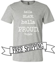 "AVAILABLE IN BLACK AT http://ift.tt/1cwNr9k USE CODE ""FREESHIP"" AT CHECKOUT #blacknostalgia #buyblack #hellablack"