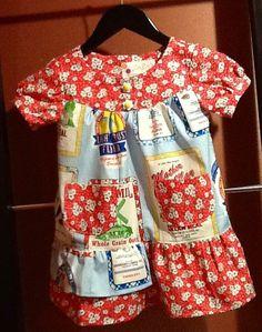 Vintage Flour Sack sweet girls dress