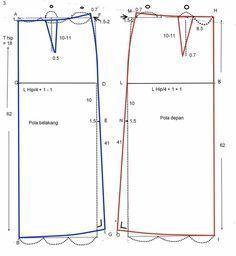 Pola Dasar Rok ~ Cara Menjahit Pakaian