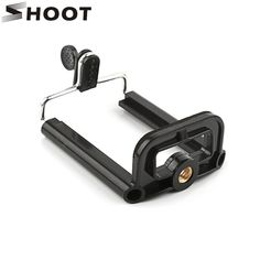 SHOOT Black Phone Holder Tripod for Phone Tripod Stand with 1/4 inch Nut Screw Hole Selfie Stick Phone Clip Accessories //Price: $0.64//     #onlineshop
