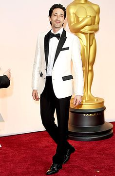 The Grand Budapest Hotel actor looked so sharp in his black and white Dolce & Gabbana tux and Christian Louboutin shoes.