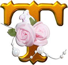 ≈ღFondos De Pantalla y Mucho Másღ≈: Alfabeto dorado con flores PNG