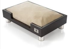 LazyBonezz Madison Low to the ground Dog or Cat Bed, Espresso