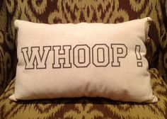 Texas Aggie...WHOOP! Pillow