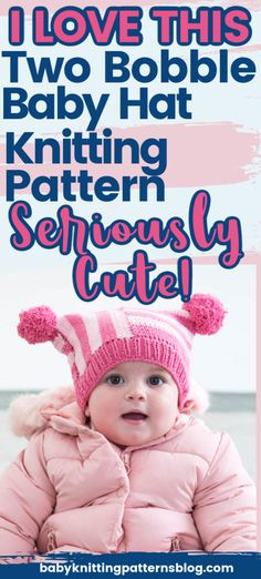 Bobble Hat Knitting Patterns for baby. Baby heads lose heat rapidly, keeping them covered-a good idea. Cute bobble hats do the job in style. Baby Hat Knitting Patterns Free, Baby Hats Knitting, Knit Patterns, Knitted Hats, Free Pattern, Crochet Hats, Bobble Hats, Baby Head, Free Baby Stuff