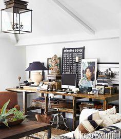 Layered Family Room Rugs - Monica Bhargava California House - House Beautiful