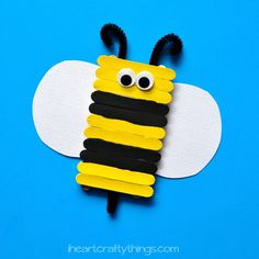 We have been going full steam ahead with Bee Crafts the last couple weeks. We started with our Paper Bag Bee, then had fun making Balloon Print Bees and yesterday I shared a cute Tissue Paper Bee. I'm not exactly sure why I love them so much lately…but I think they are adorable so why …