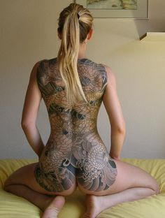 dragon full back tattoo This is one of the most beautiful artistic works of all time, I just don't know the artist