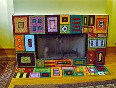 Smalti Mosaic Fireplace, by Karen Ami