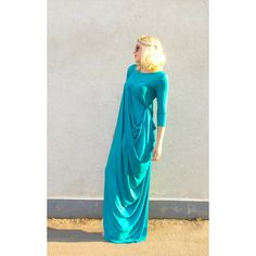 15 Off Teal Kaftan tdk133 Long Teal Kaftan Pleated Shoulder Dress Long... ($67) ❤ liked on Polyvore featuring tops, tunics, dresses, black, women's clothing, fitted button-down shirts, long sleeve kaftan, long sleeve tunic, long kaftan and long tunics